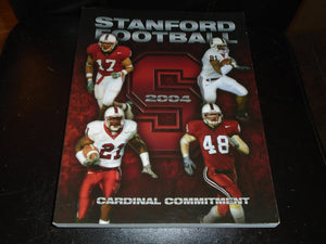 2004 STANFORD COLLEGE FOOTBALL MEDIA GUIDE NEAR MINT BOX 1