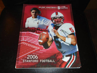 2006 STANFORD COLLEGE FOOTBALL MEDIA GUIDE EX-MINT BOX 1