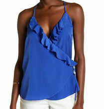 Load image into Gallery viewer, 14th & Union Womens Faux Wrap Ruffle Blouse Cross Over Cami Choose Colors Size
