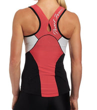 Load image into Gallery viewer, Pearl Izumi Elite Women Tri Singlet In-R-Cool Cycling - Paradise Pink/White $85