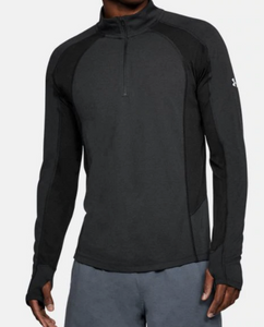 Under Armour Threadborne Mens Swyft 1/4 Zip LS Pullover 1305207 Black M-XXL  $65