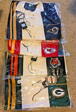 "Load image into Gallery viewer, NFL ""Spare"" Mens Bowling Shirt Retro 50's Style - Many Teams to Choose From"