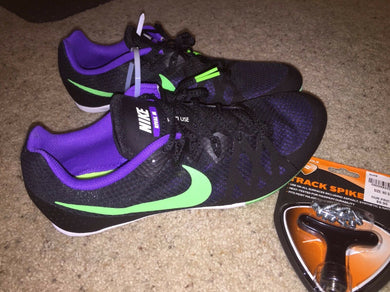 Nike ZOOM Rival M UNISEX Sz 11.5 Racing Multi Use Shoe 7 Track Spike Black