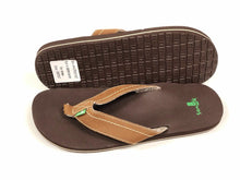 Load image into Gallery viewer, SANUK - STRAIGHT SHOT - Chestnut Brown - Men's - 9 - Thong Sandal Shoes