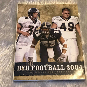 2004 Brigham Young University BYU Cougars College Football Media Guide  BOX1