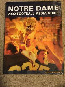 2002 UNIVERSITY OF NOTRE DAME FIGHTING IRISH  COLLEGE FOOTBALL MEDIA GUIDE b6