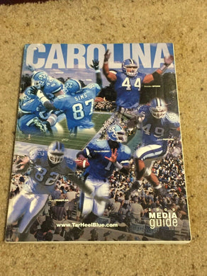 2000 NORTH CAROLINA TAR HEELS COLLEGE FOOTBALL MEDIA GUIDE b6