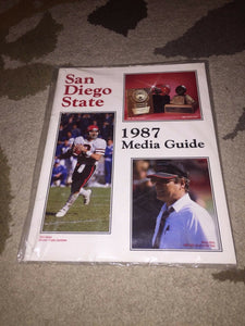 1987 SAN DIEGO STATE COLLEGE FOOTBALL  MEDIA GUIDE b4