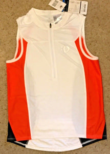Pearl Izumi Select Men's Tri SL Sleeveless Jersey Tomato and White  MSRP $60 NEW