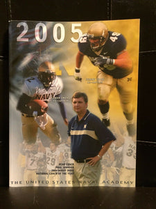 2005 NAVY COLLEGE FOOTBALL MEDIA GUIDE EX  BOX8