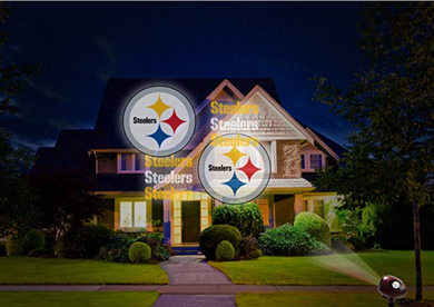 NFL Team Pride Light LED Projector Indoor/Outdoor Pittsburgh STEELERS Logo