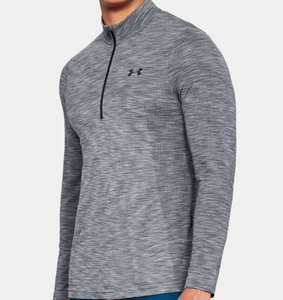 Under Armour Men UA HeatGear Vanish Seemless 1/2 Zip LS Shirt 1325632 Colors $60