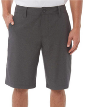 "Load image into Gallery viewer, Hang Ten Mens 11"" Stretch HYBRID Swim Shorts 1271263 Black Grey Blue Szs 32-40"