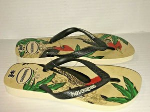 Havaianas IPE Flip Flops Brazil Sandals Women 7/8 Men 6/7 - Pica Bird or Leopard