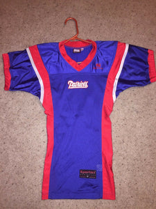 NEW Sportex Athletics New England PATRIOTS Blue Football Jersey Youth XS