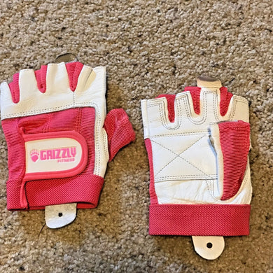 Grizzly Pink Ribbon Awareness Fitness Training Gloves - Size SMALL