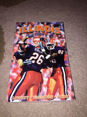 2004 ILLINOIS FIGHTING ILLINI COLLEGE FOOTBALL  MEDIA GUIDE b4