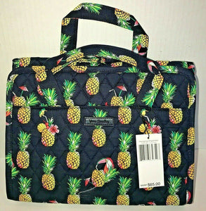 Vera Bradley Hanging Organizer Toucan Party Pineapples Travel Cosmetic Bag - $65