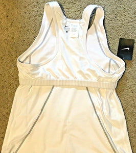 Nike 712743 Womens Triathlon Tri Top Shirt Tank White Grey Seams S M L - $82