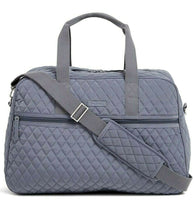 Load image into Gallery viewer, Vera Bradley Medium Traveler Bag Carry On Overnight in Carbon Gray  - $148