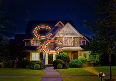 NFL Team Pride Light LED Projector Indoor/Outdoor Chicago BEARS Logo