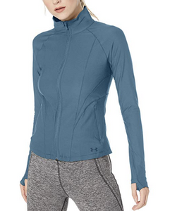 Under Armour UA Women's HeatGear Balance Full Zip Jacket Blue Large 1318056 $80