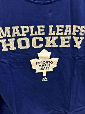 Majestic NHL Toronto Maple Leafs MEN's Hockey Big & Tall T-Shirt  Blue Sizes 4XL