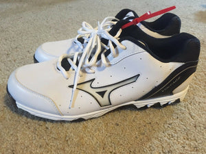 MIZUNO 9 Spike Vintage 7 Switch Mens Baseball Metal Cleats White Athletic Shoes