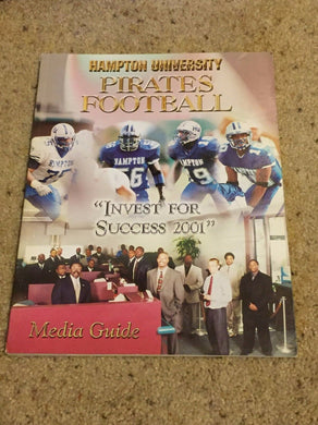 2001 HAMPTION UNIVERSITY PIRATES COLLEGE  FOOTBALL MEDIA GUIDE b5