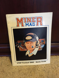 1982 UTEP UNIVERSITY TEXAS EL PASO  MINER MAG COLLEGE FOOTBALL MEDIA GUIDE BOX9