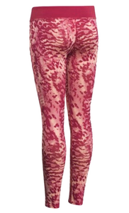 Under Armour HeatGear Girls Youth Printed Leggings Red - Sz L YL - 1250866 - $40