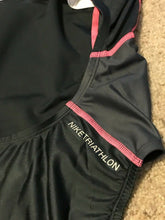 Load image into Gallery viewer, Nike 708640 Women's Triathlon Fast Back Tank Tri SwimSuit  Black Pink M - $72