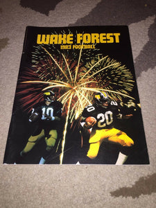 1983 WAKE FOREST COLLEGE FOOTBALL MEDIA GUIDE BOX5