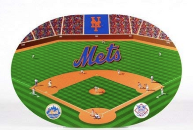 MLB Baseball NEW YORK METS Set of 4 Oval Placemats - LPM 523 Duck House Sports