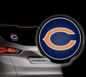 Chicago Bears NFL LED Power Decal ~ Rico Backlit Motion Sensing Car Decal Sensor
