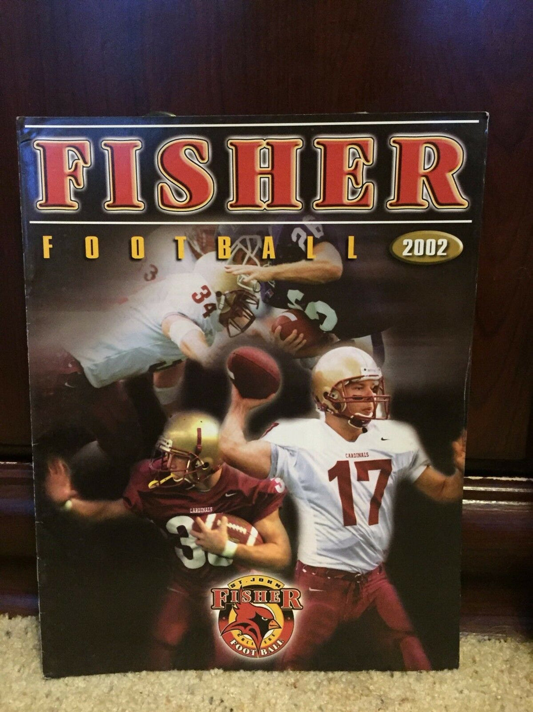 2002 ST. JOHN FISHER CARDINALS COLLEGE FOOTBALL MEDIA GUIDE EX - b3