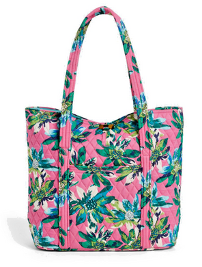 Vera Bradley Large Vera Tote Bag Toggle Closure -Tropical Paradise - 15822 - $98