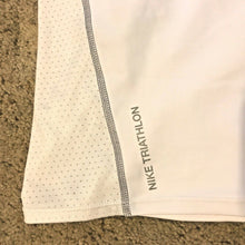 Load image into Gallery viewer, Nike 712743 Womens Triathlon Tri Top Shirt Tank White Grey Seams S M L - $82