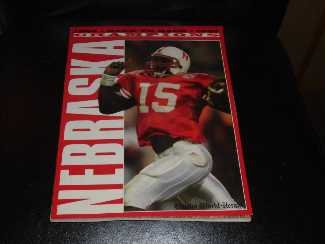 1995 NEBRASKA BACK TO BACK COLLEGE FOOTBALL BOOK MEDIA GUIDE MAGAZINE BOX 3