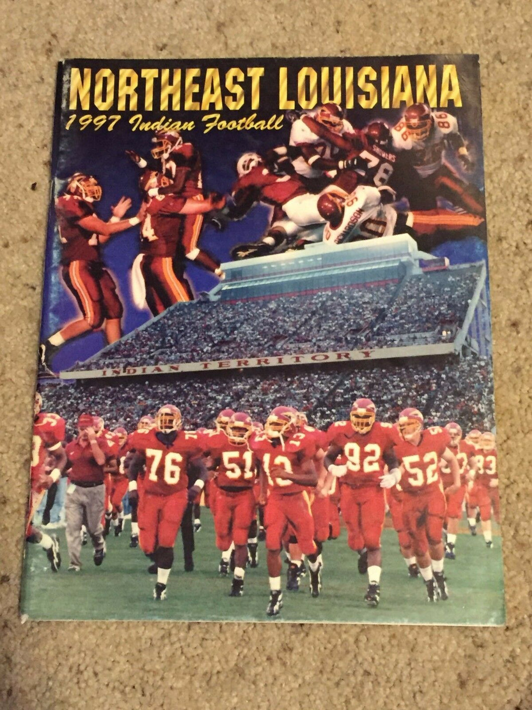 1997 NORTHEAST LOUISIANA INDIANS COLLEGE FOOTBALL MEDIA GUIDE b6