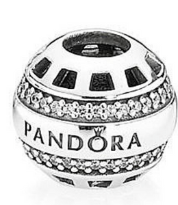 Authentic PANDORA Forever Charm 791753cz Cubic Zirconia Sterling Silver Bead CZ