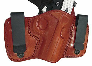 Tagua GunLeather DCH-167 Taurus TCP w/CT Laser Holster, Brown, Right Hand - NEW