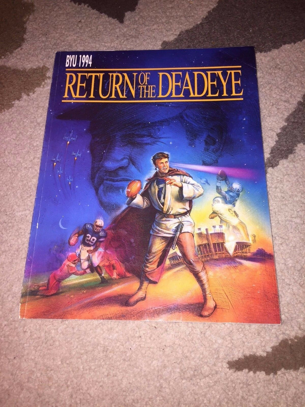 1994 BYU RETURN OF THE DEADEYE BRIGHAM YOUNG COLLEGE FOOTBALL MEDIA GUIDE - BOX5