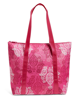 Vera Bradley COOLER TOTE Large Insulated Travel Bag - Pink Stamped Paisley - $78