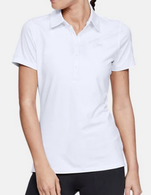 Under Armour UA Womens HeatGear ZINGER Golf Polo 1272336 - White - Size S-L $60