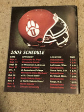 Load image into Gallery viewer, 2003 UNIVERSITY OF SOUTH DAKOTA COYOTES COLLEGE FOOTBALL MEDIA GUIDE b6