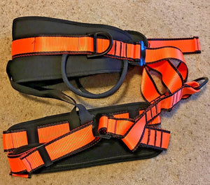 Professional Safety Rock Climbing Rappelling Harness Seat Sitting Belt Orange