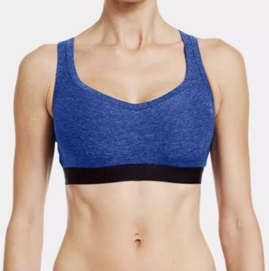 Under Armour UA Womens GET SET GO Sports Bra B Cup 1239137 Blue Black 38B  $45