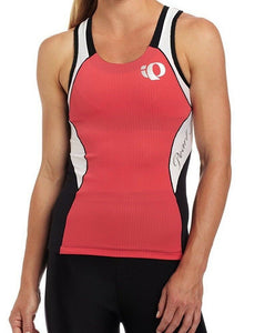 Pearl Izumi Elite Women Tri Singlet In-R-Cool Cycling - Paradise Pink/White $85