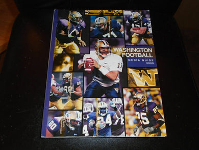 2000 WASHINGTON COLLEGE FOOTBALL MEDIA GUIDE EX-MINT BOX 2